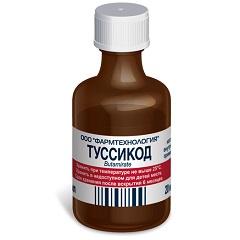 Раствор для приема внутрь Туссикод