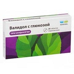 Таблетки подъязычные Валидол с глюкозой
