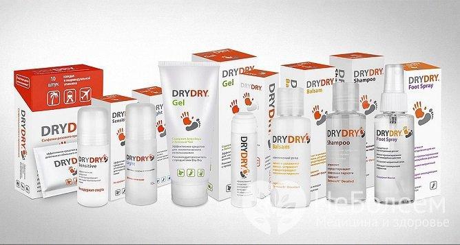 Антиперспирант Dry Dry после нанесения действует на протяжении 5–7 дней