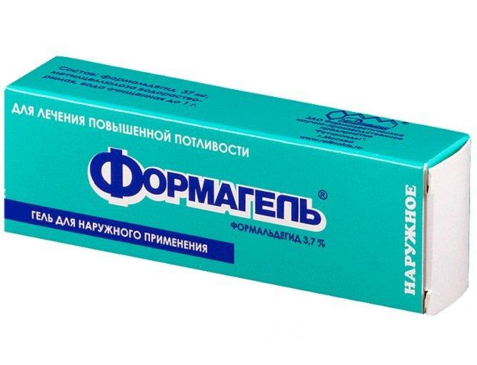 Формагель часто назначается для лечения гипергидроза